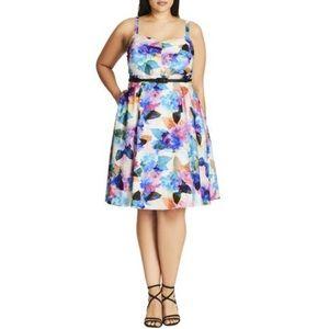 NWT City Chic Rainbow Floral Print Dress